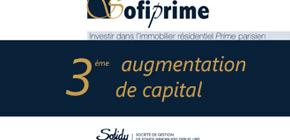 Une appréciation de 7,23% du prix de part en 2020 pour la SCPI Sofiprime